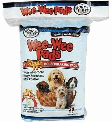 Four Paws Wee-Wee Pads for Little Dogs (30 pads)