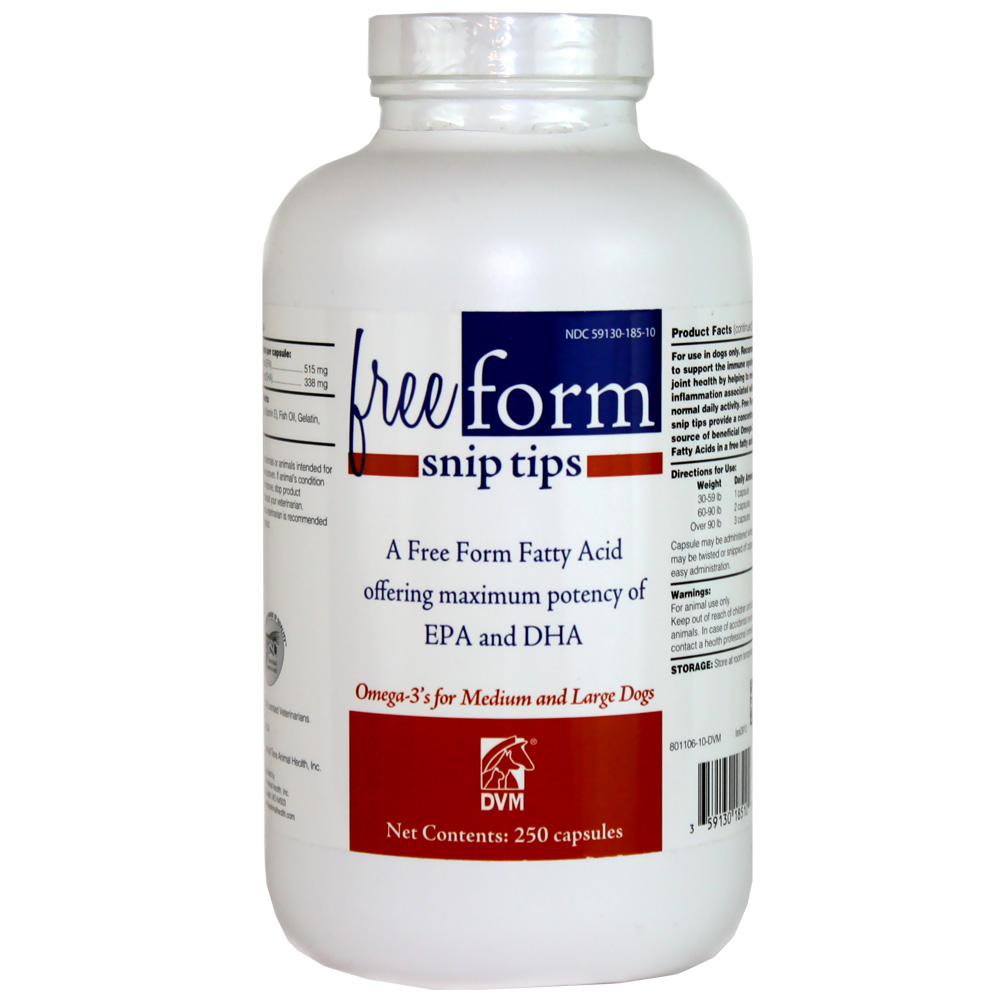 Free Form Snip Tips Omega-3 for Medium/Large Dogs (250 capsules)