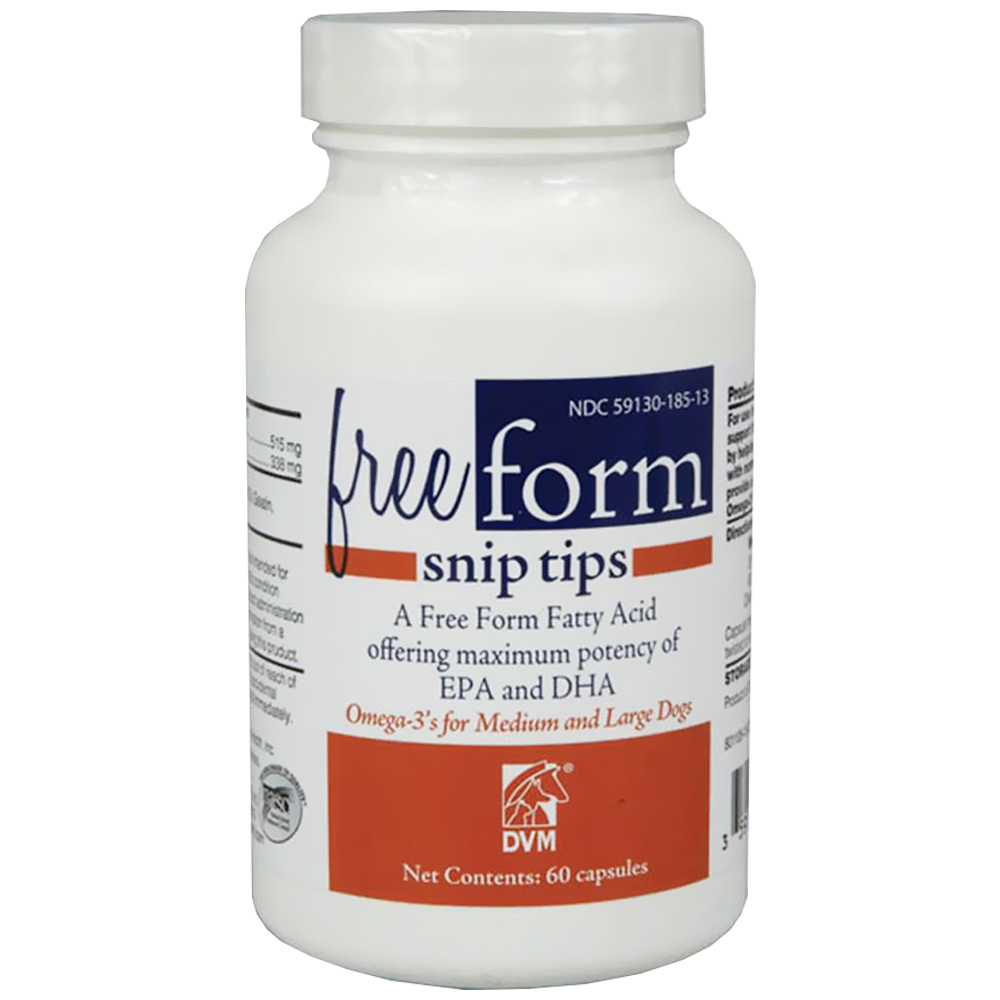 Free Form Snip Tips Omega-3 for Medium/Large Dogs (60 capsules)