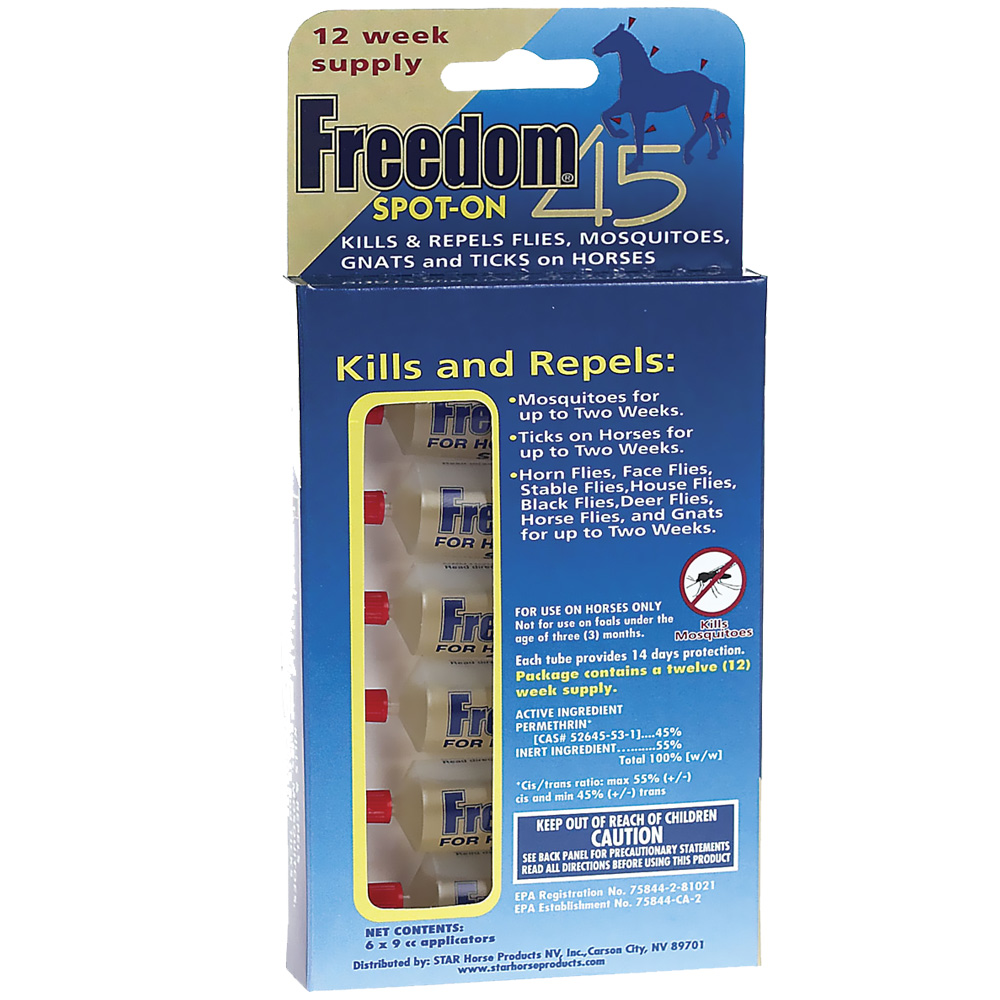 Freedom 45 Spot-On for Horses - 12 Weeks
