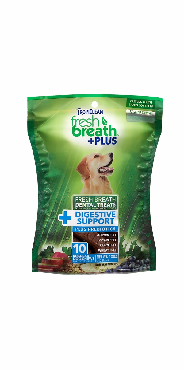 Fresh Breath Plus Dental Treats Digestive Support - Regular (10 chews)