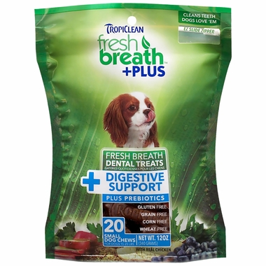 Fresh Breath Plus Dental Treats Digestive Support - Small (20 chews)