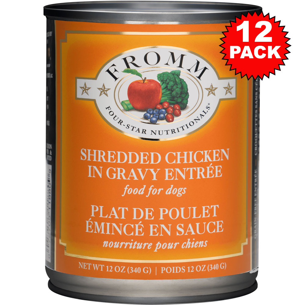 Fromm Four-Star Dog Food - Canned Shredded Chicken in Gravy (12x13 oz)