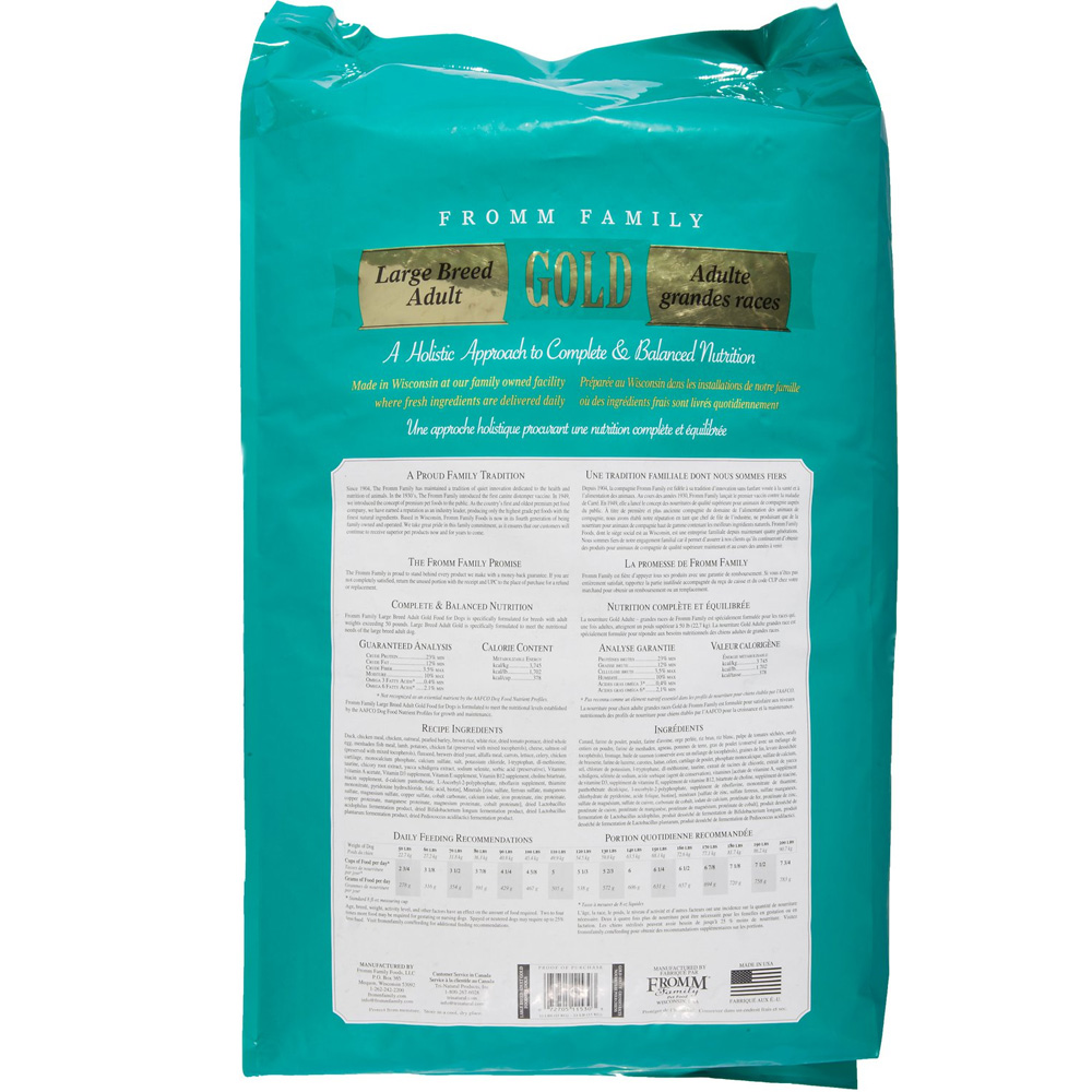 Fromm Gold Adult Dog Food Large Breed 33 Lb
