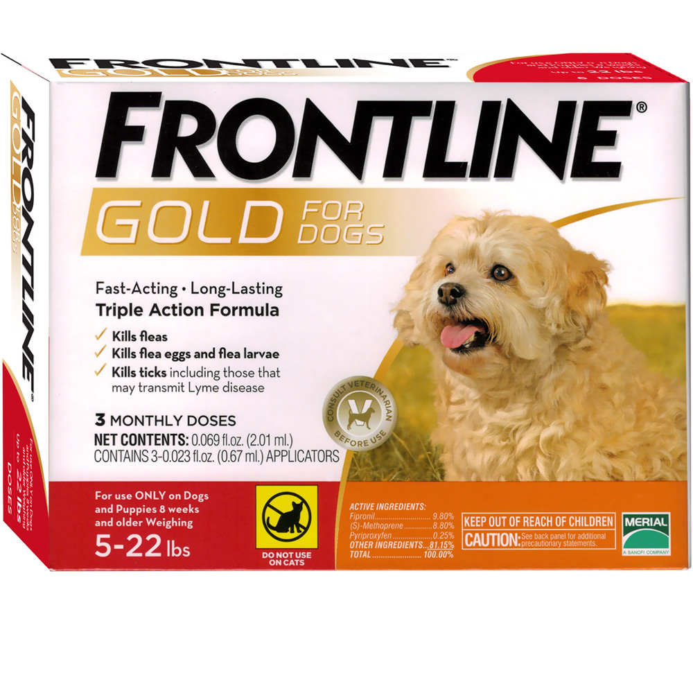 Frontline GOLD for Dogs 5-22 lbs - ORANGE (3 MONTH)