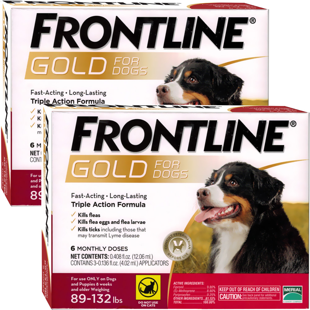 Frontline GOLD for Dogs 89-132 lbs - RED (12 MONTH)