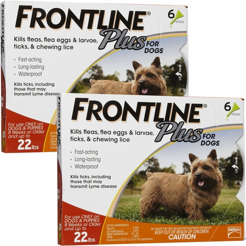 Frontline Plus for Dogs 0-22 lbs - ORANGE, 12 MONTH