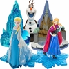 Frozen Characters & Castles Aquarium Ornament Set