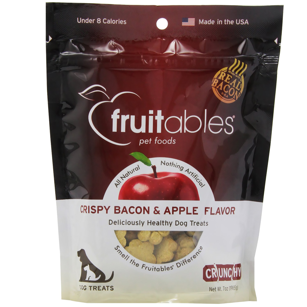 Fruitables Dog Treats - Crispy Bacon & Apple (7 oz)