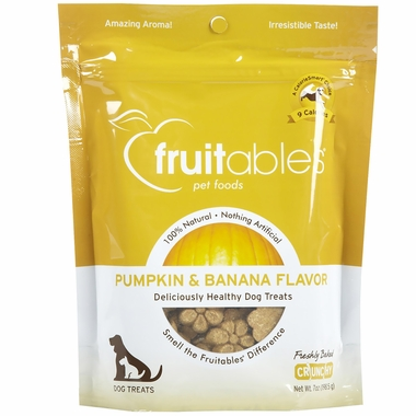Fruitables Dog Treats Pumpkin & Banana (7 oz)