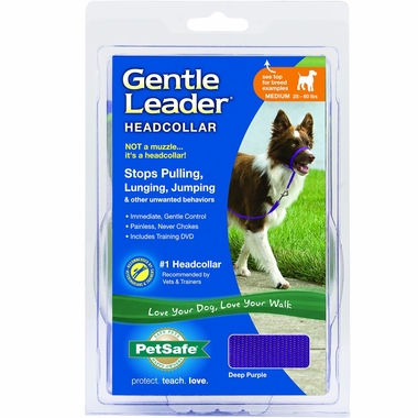 Petsafe Gentle Leader Quick Release Headcollar - Deep Purple (Medium)