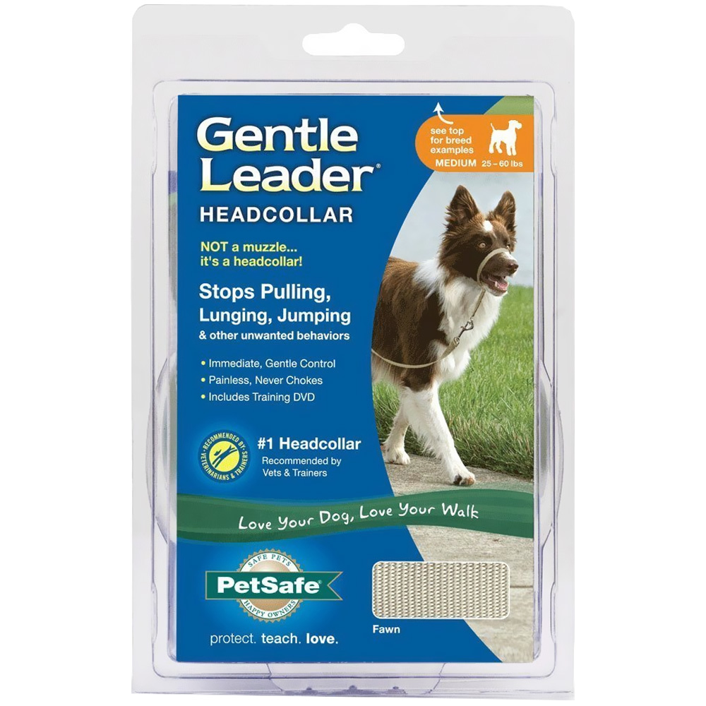 Petsafe Gentle Leader Quick Release Headcollar - Fawn (Medium)