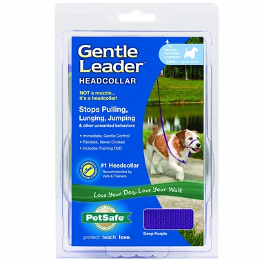 Petsafe Gentle Leader Quick Release Headcollar - Deep Purple (Small)