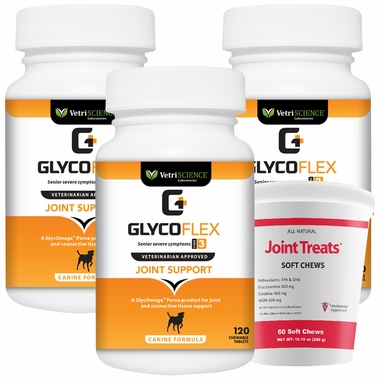 3-PACK Glyco Flex® 3 (360 Tabs) + FREE Joint Treats!