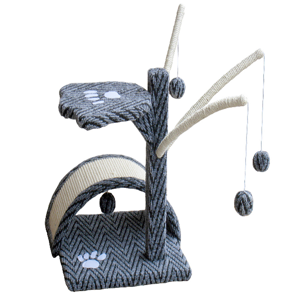 Go Pet Club Cat Tree Scratching Post - Grey & Black