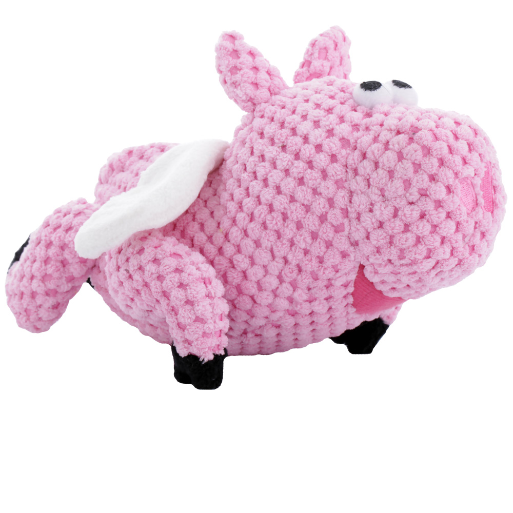goDog Checkers Flying Pig with Chew Guard - Small