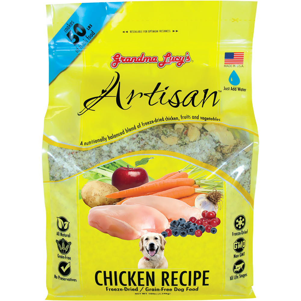 Grandma Lucy's Freeze-Dried Grain-Free Artisan Chicken Dog Food (10 lbs)
