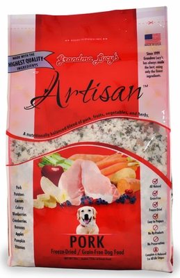 Grandma Lucy's Freeze-Dried Grain-Free Artisan Pork Dog Food (3 lbs)