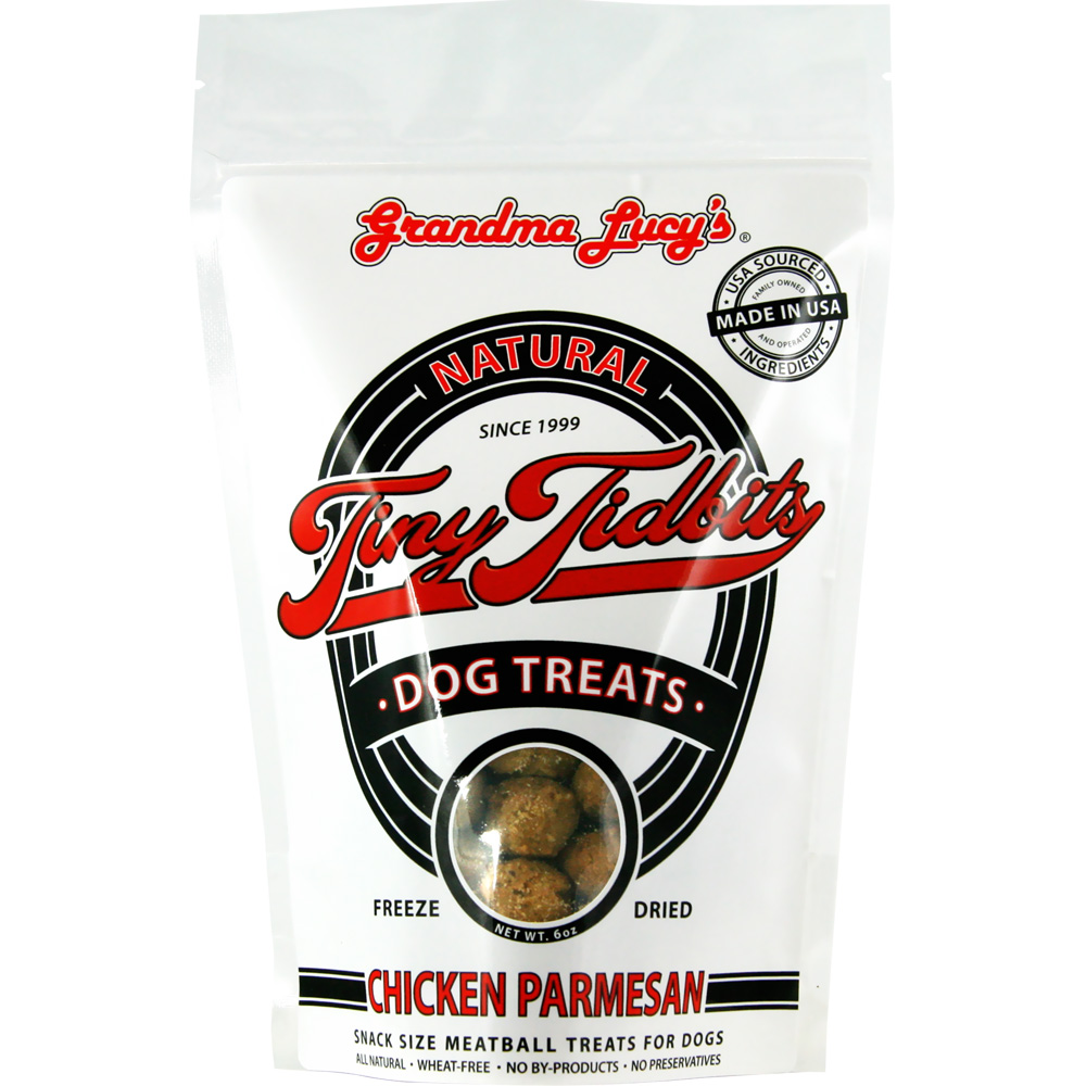 Grandma Lucy's Tiny Tidbits Freeze-Dried Chicken Parmesan Dog Treats (6 oz)