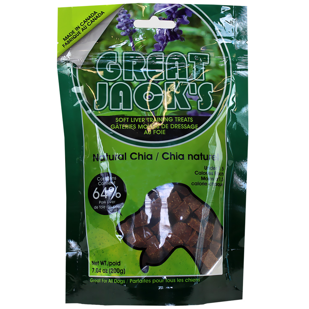 Great Jack's Training Treats - Natural Chia (7 oz)