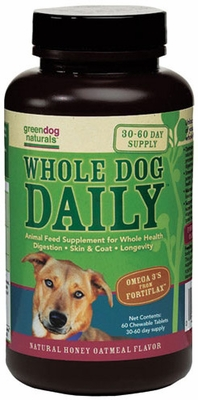 Greendog Naturals Whole Dog Daily Chewable (60 ct)