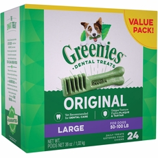 GREENIES Dental Chews Value Size  - LARGE  36 oz (24 chews)