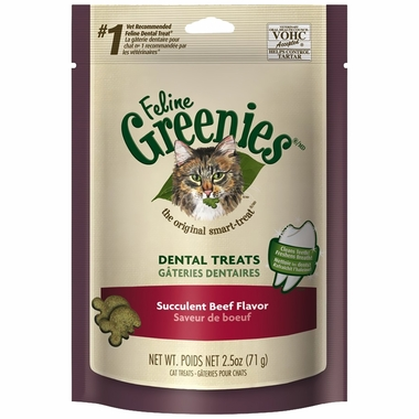 Greenies Feline - SUCCULENT BEEF (2.5 oz)