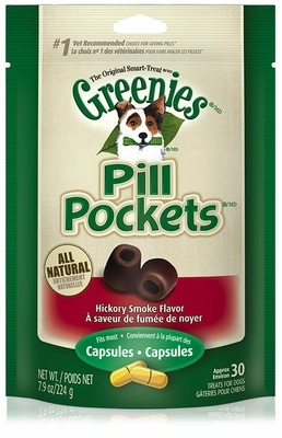 GREENIES Pill Pockets Hickory Smoke Formula 7.9 oz (30 count)