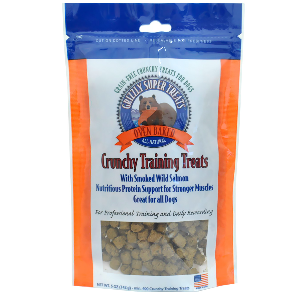 Grizzly Crunchy Training Treats - Smoked Salmon (5 oz)