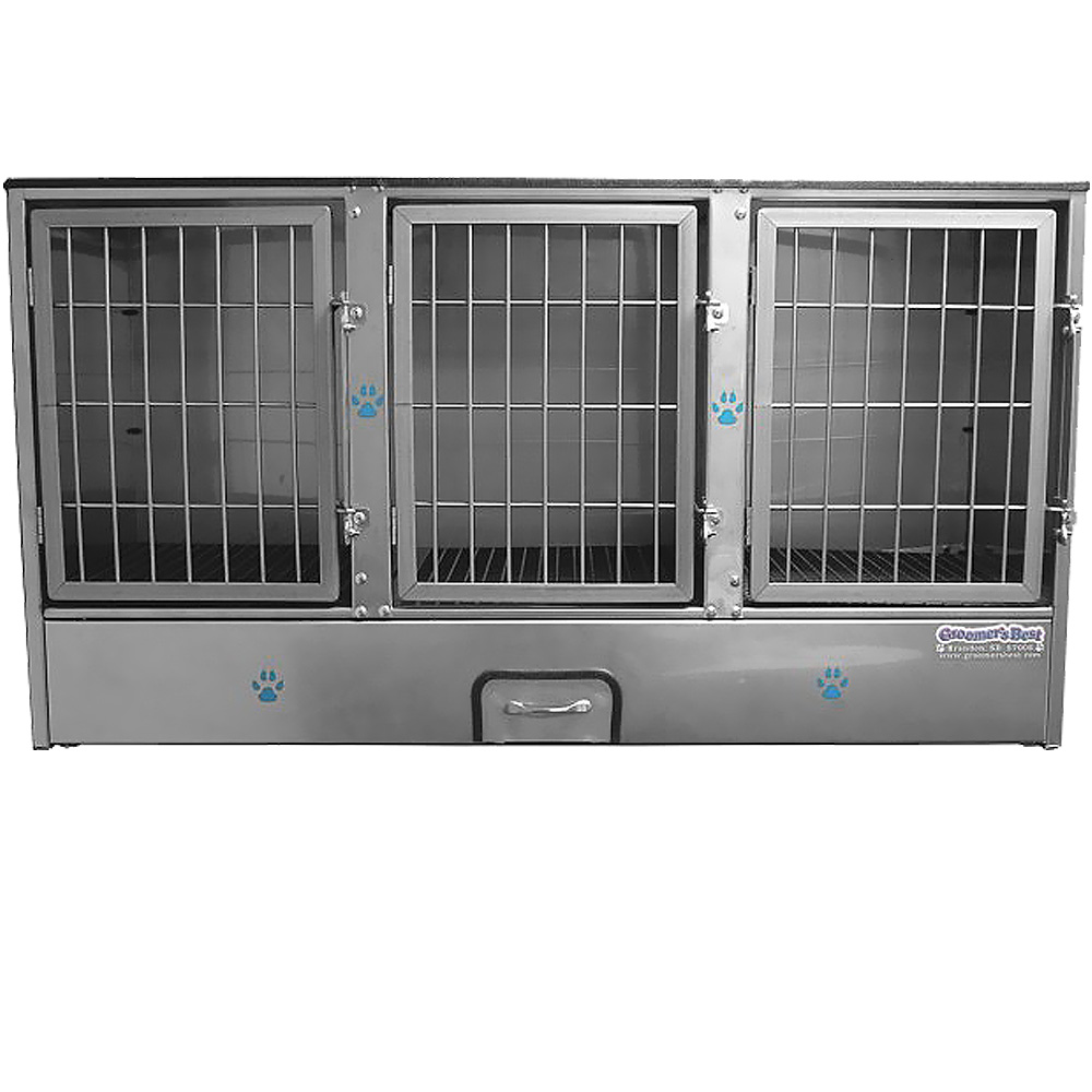 Groomer's Best 3 Unit Cage Bank