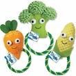 Grriggles Happy Veggies Rope Tug Carrot