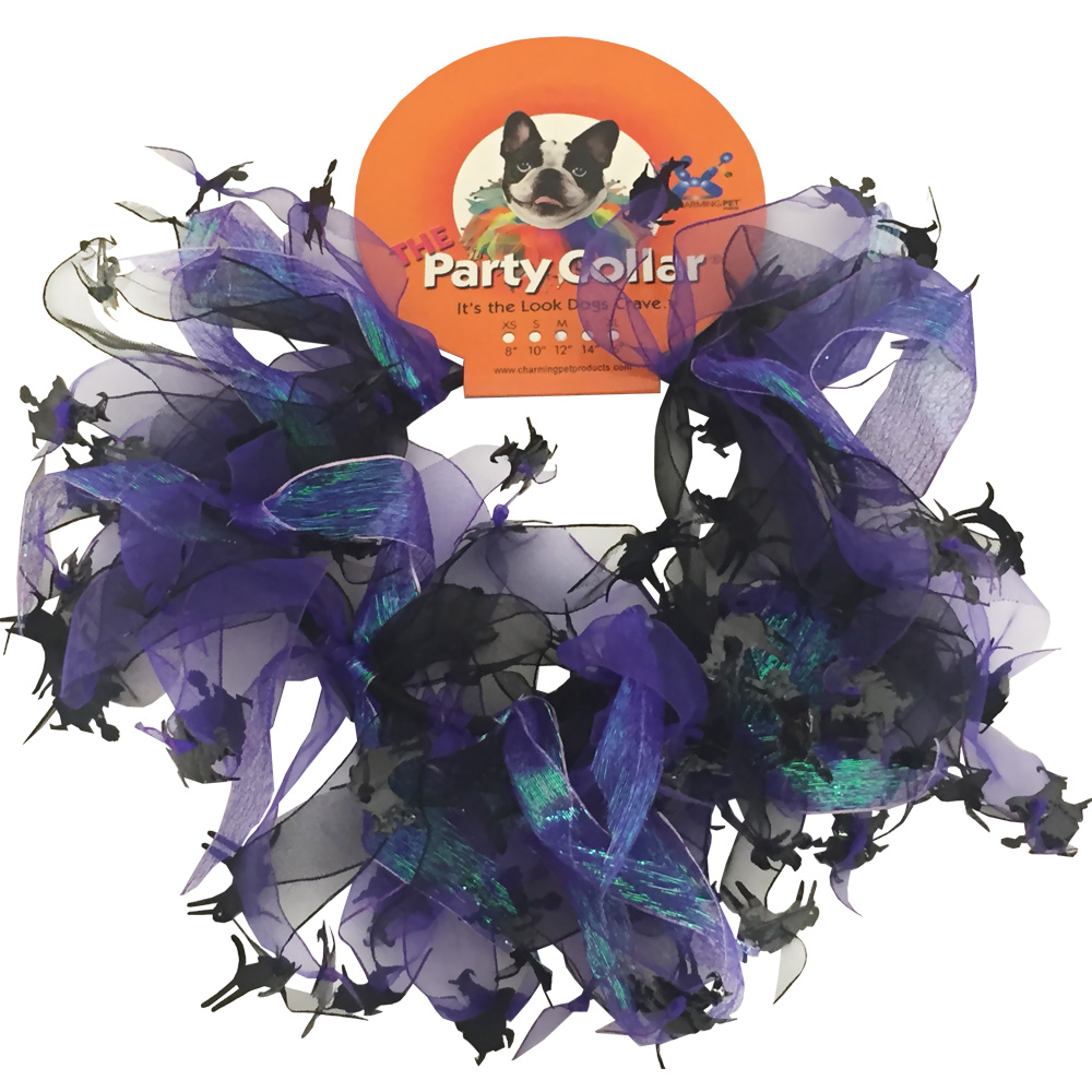 Halloween Party Collar - Cats & Witch - Large (14
