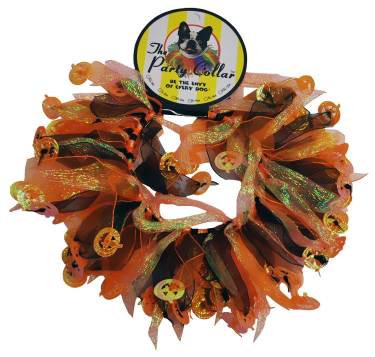 "Halloween Party Collar - Pumpkin - Large (14"")"