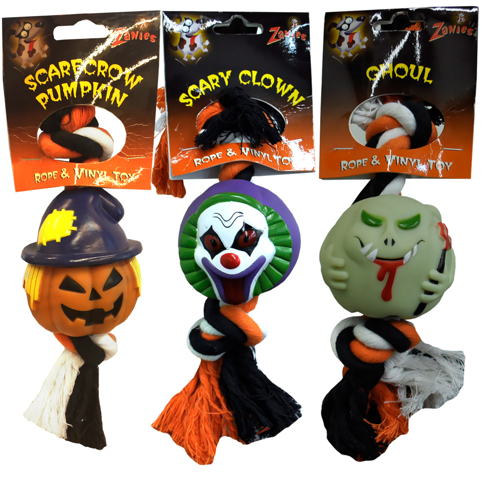 "Halloween Rope & Vinyl Toys 9"" - Scary Clown"