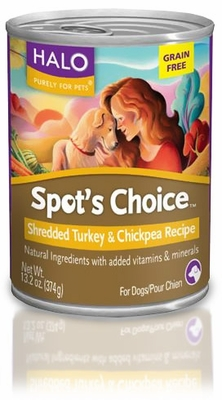 HALO Spot's Choice Shredded Chicken and Chickpea Dog Food (13.2 oz)