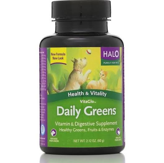 Halo VitaGlo Daily Greens Supplements for Dogs & Cats (100 count)