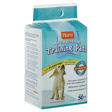 Hartz Antibacterial Training Pads for Dogs & Puppies (50 ct)