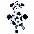Hear Doggy Ultrasonic Flats Toy with Chew Guard - Cow