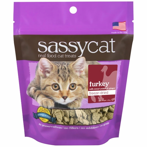 Herbsmith Sassy Cat Treats - Turkey with Sweet Potato & Ginger
