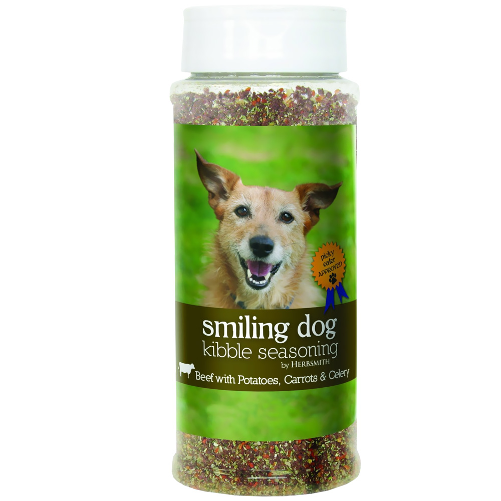 Herbsmith Smiling Dog Kibble Seasoning - Beef with Potatoes, Carrots & Celery - Small