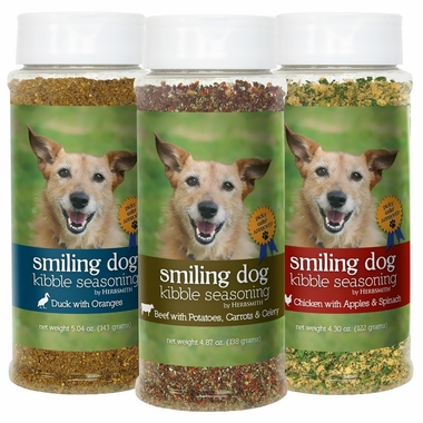 Herbsmith Smiling Dog Kibble Seasoning - Chicken with Apples & Spinach - Small