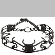 "Herm Sprenger Stainless Steel Prong Training Collar 23"" - Large 3.2 mm (Black)"