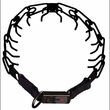 "Herm Sprenger Stainless Steel Prong Training Collar with Security Buckle 21"" - 3.2mm (Black)"