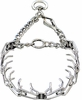 "Herm Sprenger Chrome Plated Stainless Steel Prong Training Collar with Swivel 16"" - Small 2.25mm"