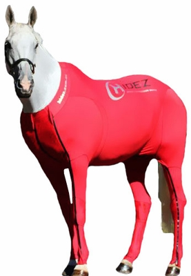 Hidez Horse Compression Suits - RED (60 - 61 3/4 inches)