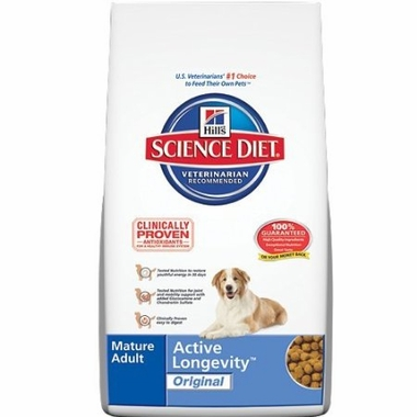 Hill's Science Diet Canine Mature Adult Active Longevity Original (17.5 lb)