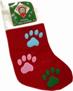 Holiday 3 Color Paw Stocking