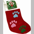 Holiday 3 Color Paw Stocking - MEDIUM