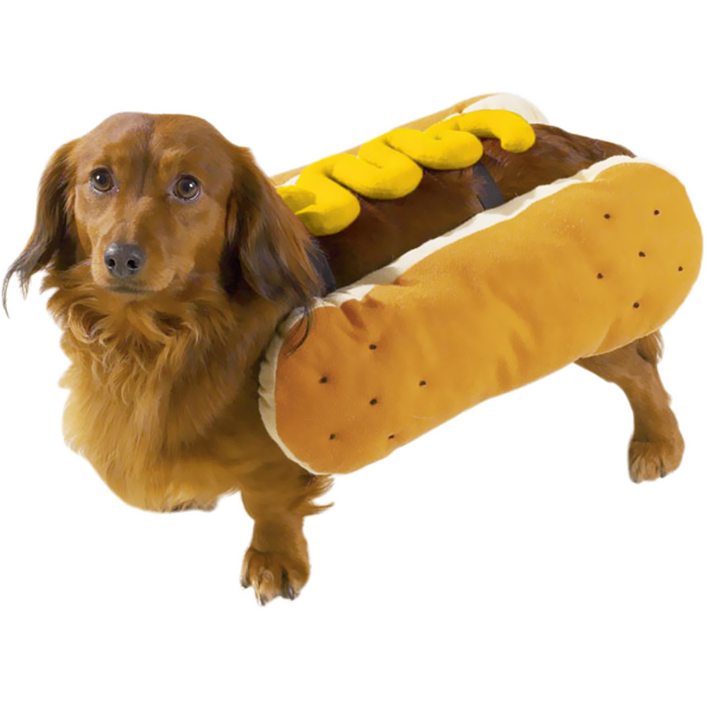 Casual Canine Hot Diggity Dog Costume Mustard - SMALL