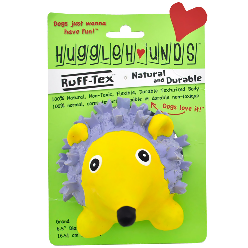 HuggleHounds Ruff-Tex Violet the Hedgehog Dog Toy - Large